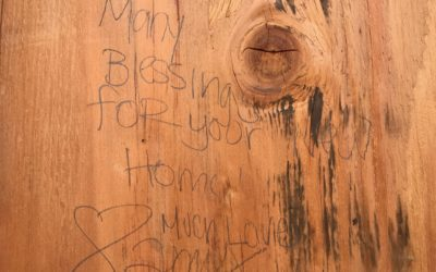 message written on Habitat for Humanity home in Hawaii: