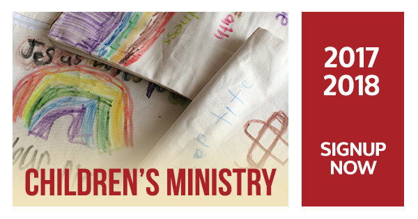 Children's Ministry Sign Up Now!
